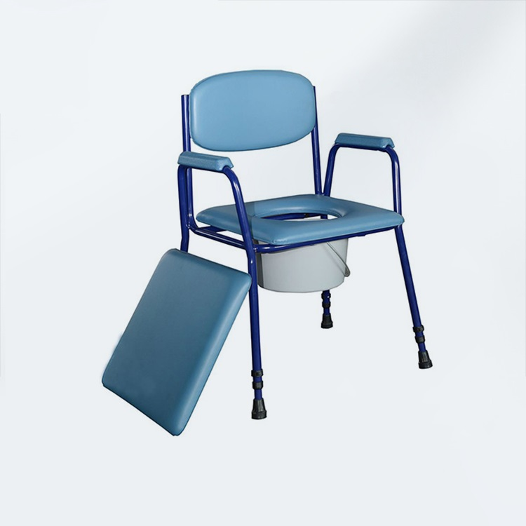 Steel Fixde Commode Chair